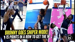 Download Bronny James Turns Into a SNIPER & SCORES 15 IN a ROW In HUGE CLUTCH Playoff Win!! Mp3 and Videos
