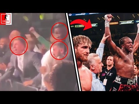 RARE FOOTAGE! THE SIDEMEN GO CRAZY AS KSI IS ANNOUNCED WINNER AGAINST LOGAN PAUL!