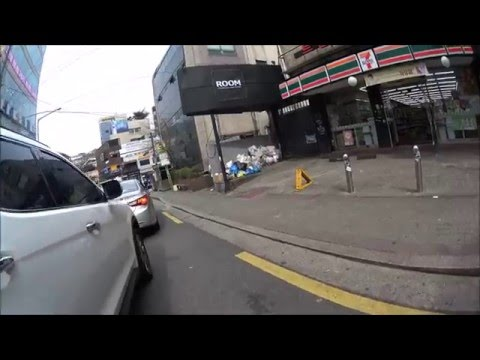 Motorcycle Driving in Seoul (BMW F800HP2 Driving Sport Tour and Urban)