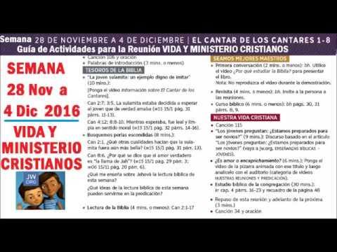 Semana 28 Nov. A 4 Dic. 2016 Guia De Actividades Vida Y Ministerio Cristianos