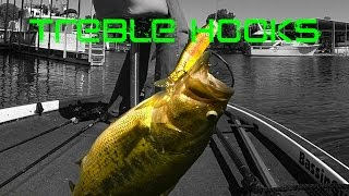 Bass Fishing: Treble Hooks and Lure Modifications