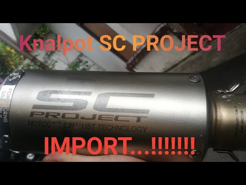 Unboxing & Review Knalpot Racing SC PROJECT Made in Taiwan      #knalpotracing #scproject #universal
