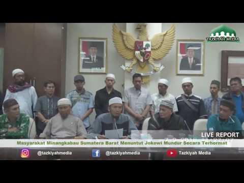 JOKOWI KAGET! Pernyataan Jumpa Pers Mengejutkan , Masyarakat Sumbar Mendesak Jokowi Mundur