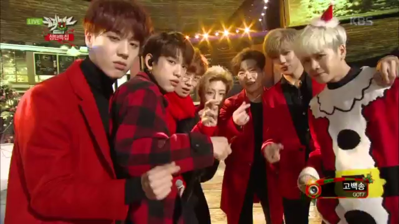 kbs world] 뮤직뱅크 - GOT7, 고백송.20151225 - YouTube
