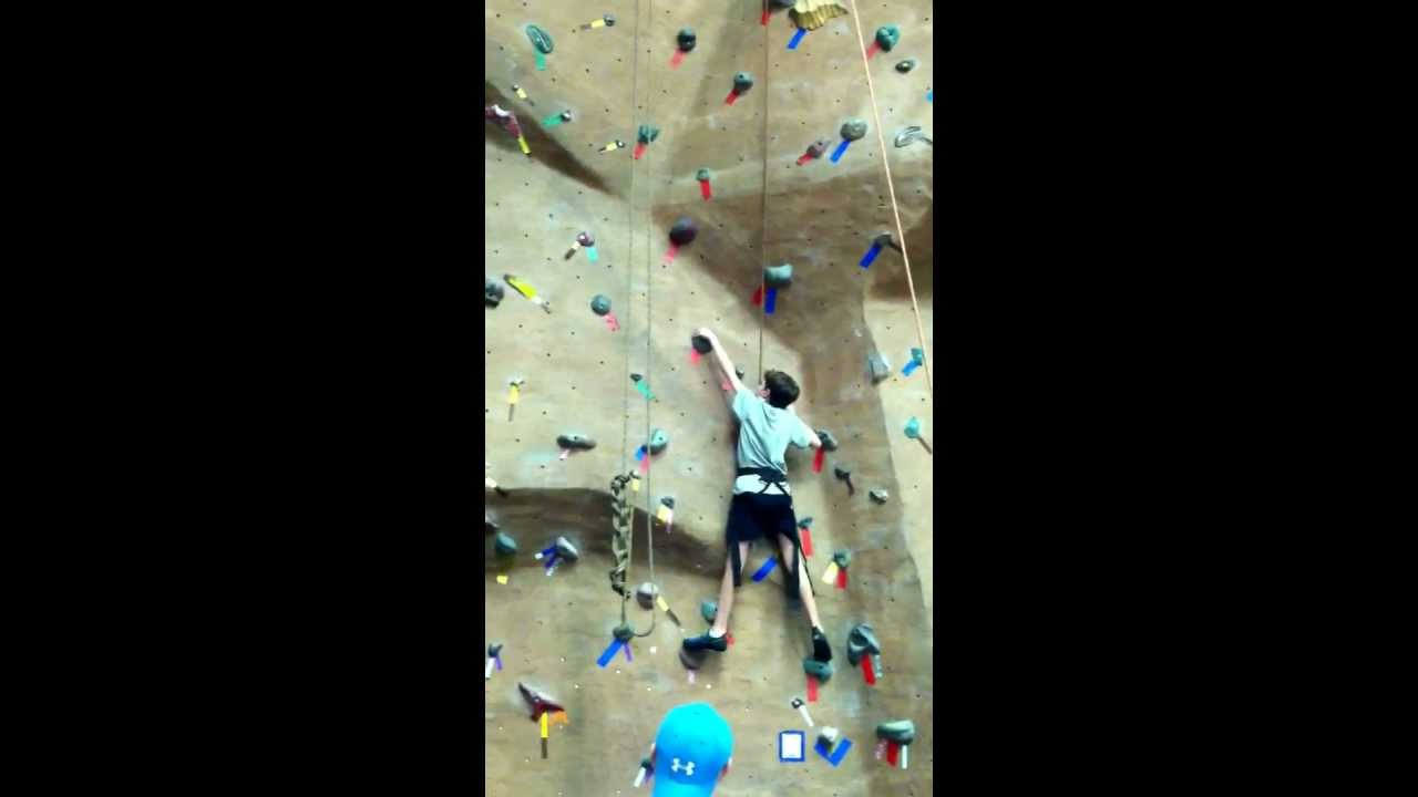 Justin Wall Climbing at LifeTime Fitness in Cary 11513