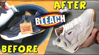 MAKING THE NEW LEVIS JORDAN 4 WHITE DENIM SNEAKER!! (EARLY LOOK) 2e52607b9