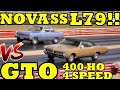SMALL BLOCK vs BIG BLOCK !! 66 L79 Nova SS vs 67 Pontiac GTO 400 HO  - Drag Race - RoadTest®