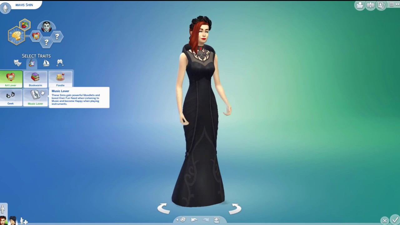 how to create a vampire sims 4
