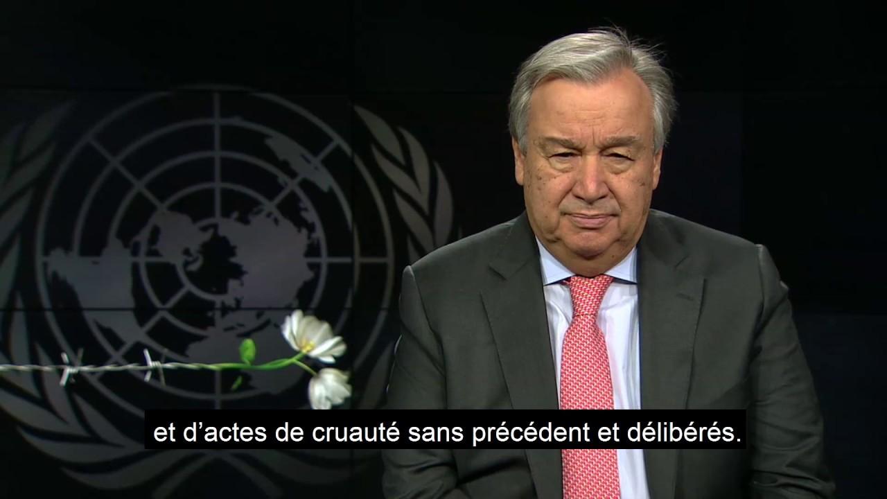 Journée à la mémoire des victimes de l'Holocauste - Message de António Guterres