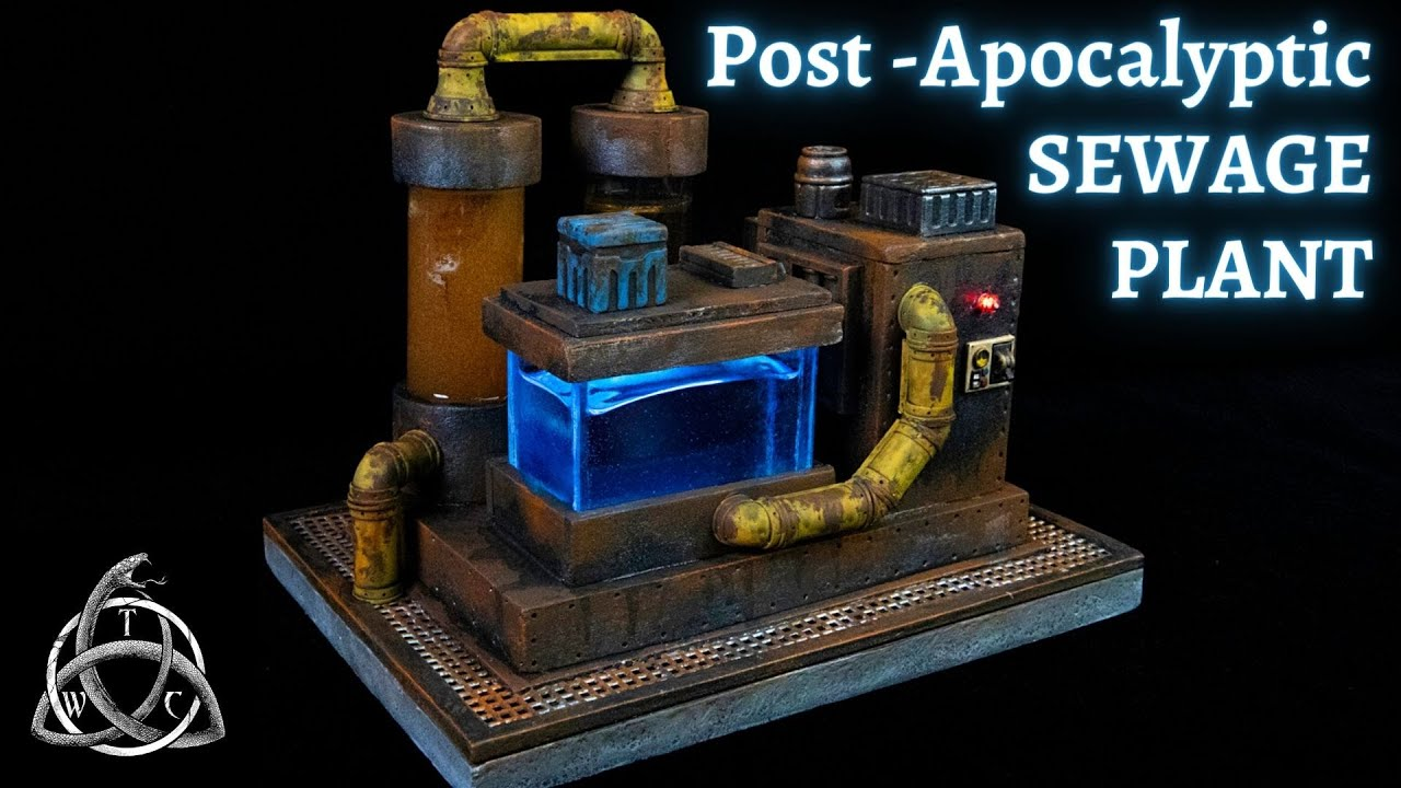 Unique Warhammer 40,000 Necromunda Post-Apocalyptic Sewage Treatment Plant