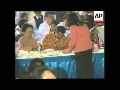 INDONESIA: VOTING BEGINS IN GENERAL ELECTION (2)