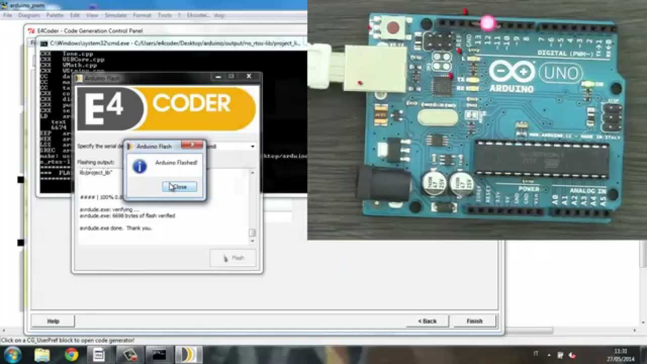 Arduino Code Generator from ScicosLab and E4Coder!