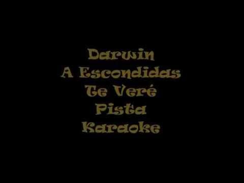 Darwin   A Escondidas Te Veré  Pista Karaoke