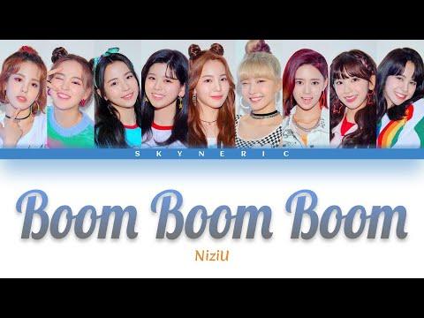 NiziU - Boom Boom Boom Color Coded Lyrics Video 歌詞 |JAP|ROM|ENG|
