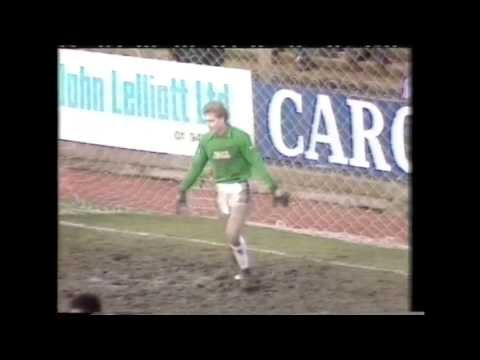 Wally Downes scores a goal