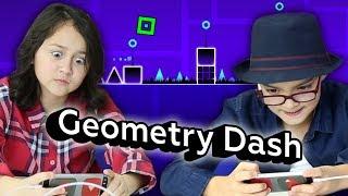 Реакции детей на Geometry Dash