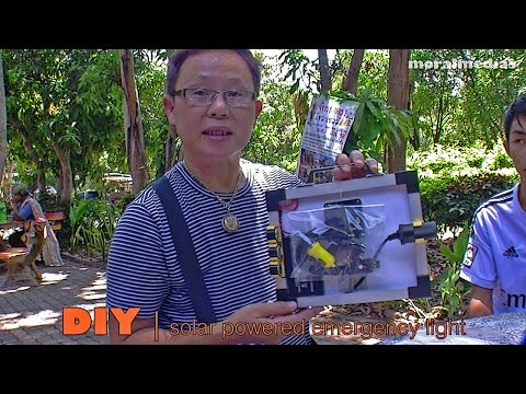 Solar Powered  Emergency Light | DIY