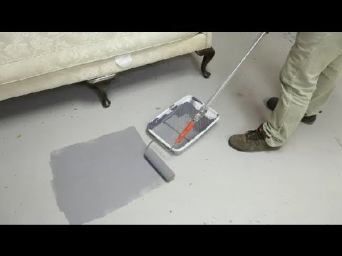 How to Paint Concrete Floors in the Kitchen & Living Room : Concrete ...