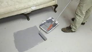 How to Paint Concrete Floors in the Kitchen & Living Room : Concrete Floors