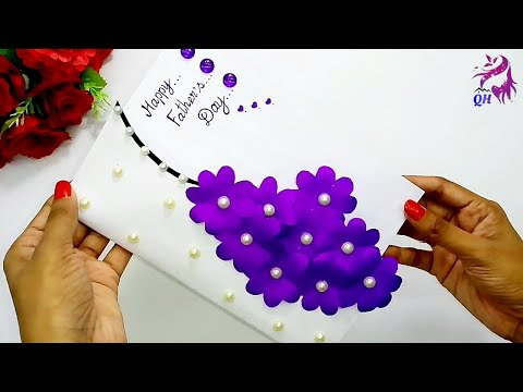 How  to make a special handmade greeting card for Father's day | DIY paper gift idea | Queen's home
