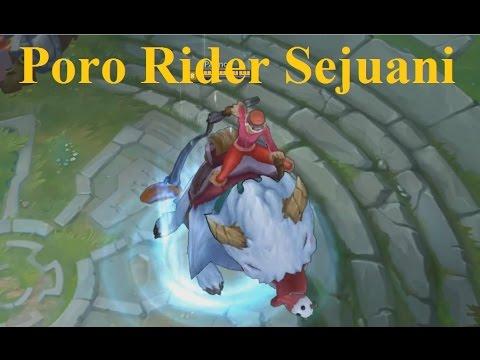 Poro Rider Sejuani Skin Spotlight - Sejuani Rides a Gaint Poro