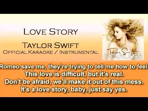 Love Story - Taylor Swift (Official Instrumental / Karaoke)