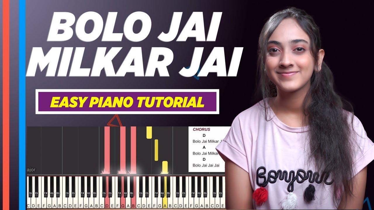 Bolo Jai Milkar Jai (Hindi Christian Song) - Easy Chords and Notes Chart for Piano   Yeshu Ke Geet