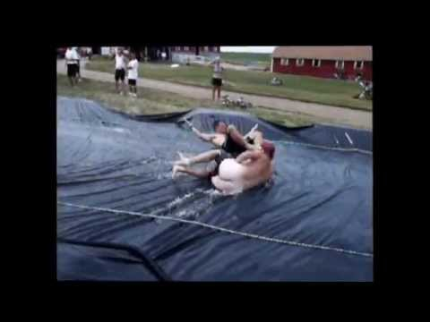 RAGBRAI Water Slide...Swimsuit Malfunction...Oops! thumbnail