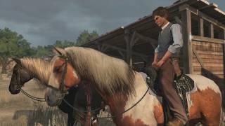 Прохождение Red Dead Redemption - Возвращение домой, к семье (первая минута без звука, copyright)