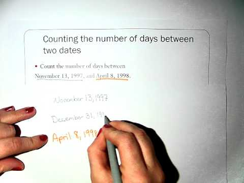 Finding the number of Days between two Dates