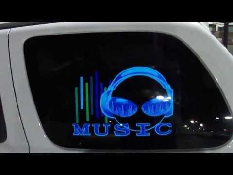 LED стикер за кола с уникално осветяване на задното стъкло на автомобила CT153 7
