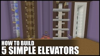 5 Easy Ways To Build Elevators In Minecraft