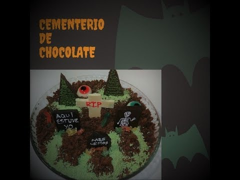 Cementerio de Chocolate para Halloween por el canal Hora de Comer Time to Eat