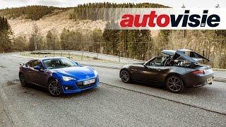 Autovisie Vlog: Mazda MX-5 2.0 RF (2017) versus Subaru BRZ (2017)