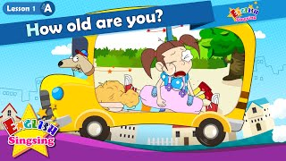 Lesson 1_(A)How old are you? - How old - Age - Cartoon Story - English Education - for kids