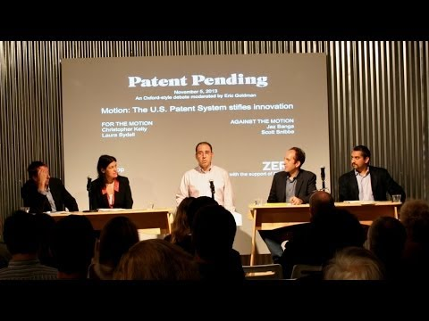 Patent Pending Event: Does the U.S. Patent System stifle innovation? An Oxford-Style debate.