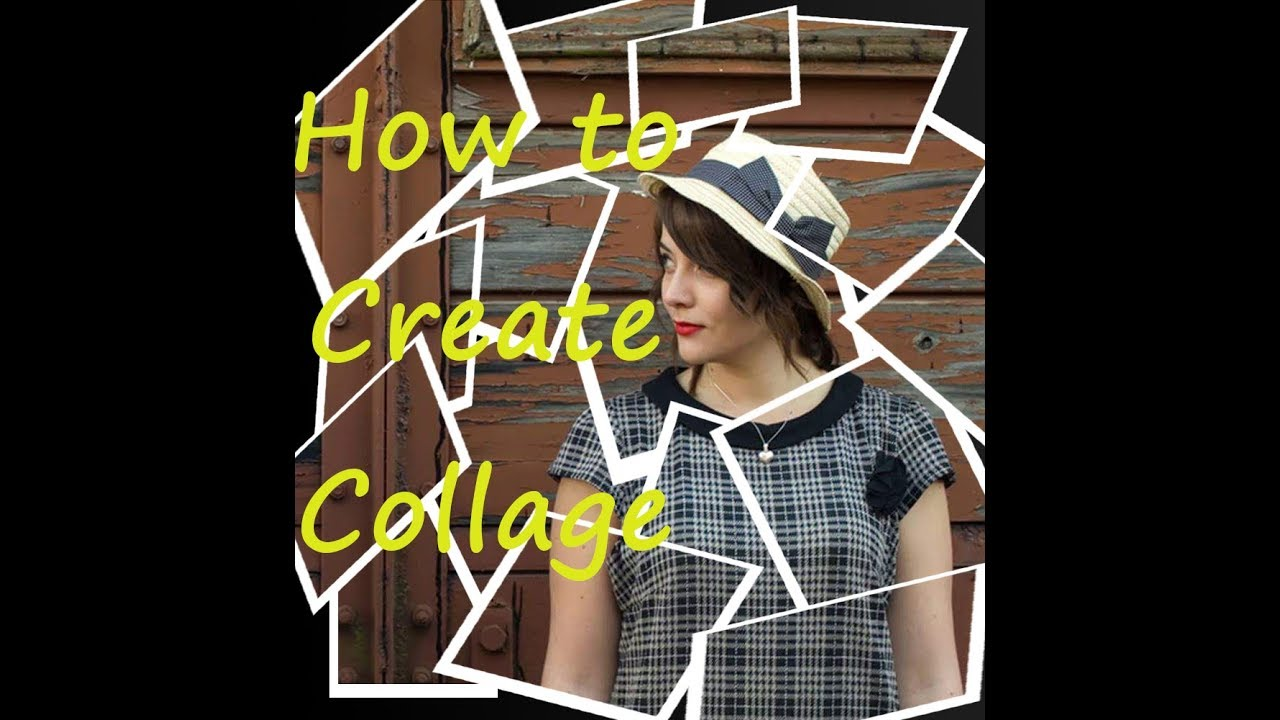 how to make a collage in photoshop youtube