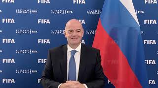Обращение президента ФИФА Джанни Инфантино к делегатам конференции Российского футбольного союза