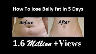 how to lose belly fat In 5 Days: Lemon Flat Belly Detox Water | how to reduce belly fat & weight