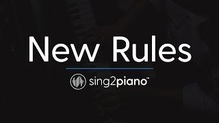 New Rules Piano Karaoke Instrumental Dua Lipa