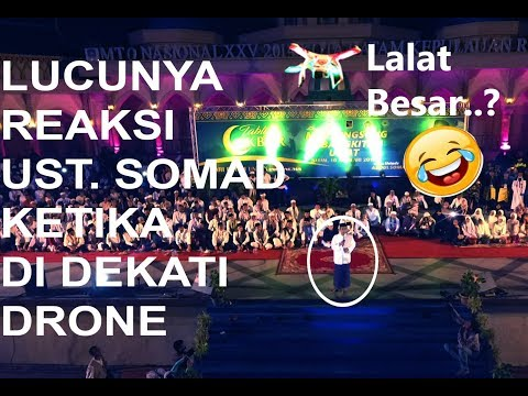funny ustadz somad when the drone coming