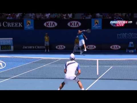Australian Open 2011 R4 Novak Djokovic Vs Nicolas Almagro Highlights [HD]