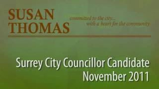 Susan Thomas 2011 Surrey Civic Elections