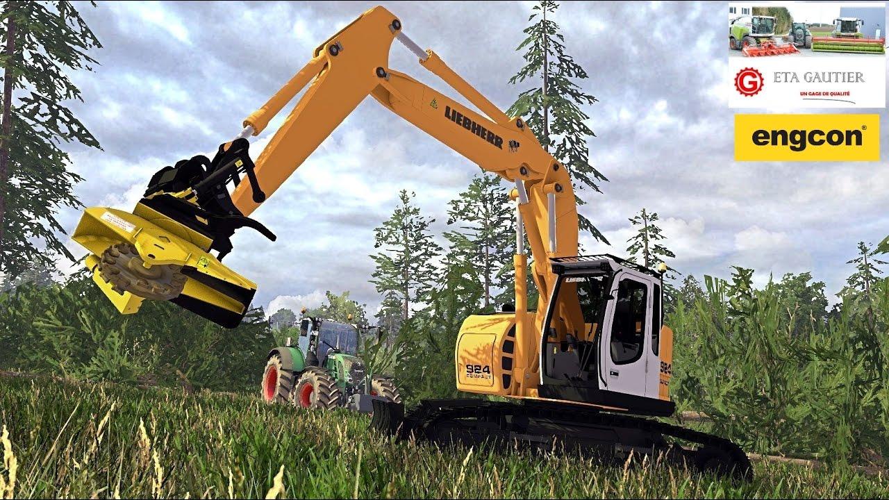 Farming simulator 15 rp eta gautier travaux forestier for Pack travaux