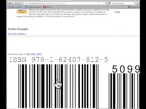 How To Make A Free Custom ISBN Barcode With Price Embedded