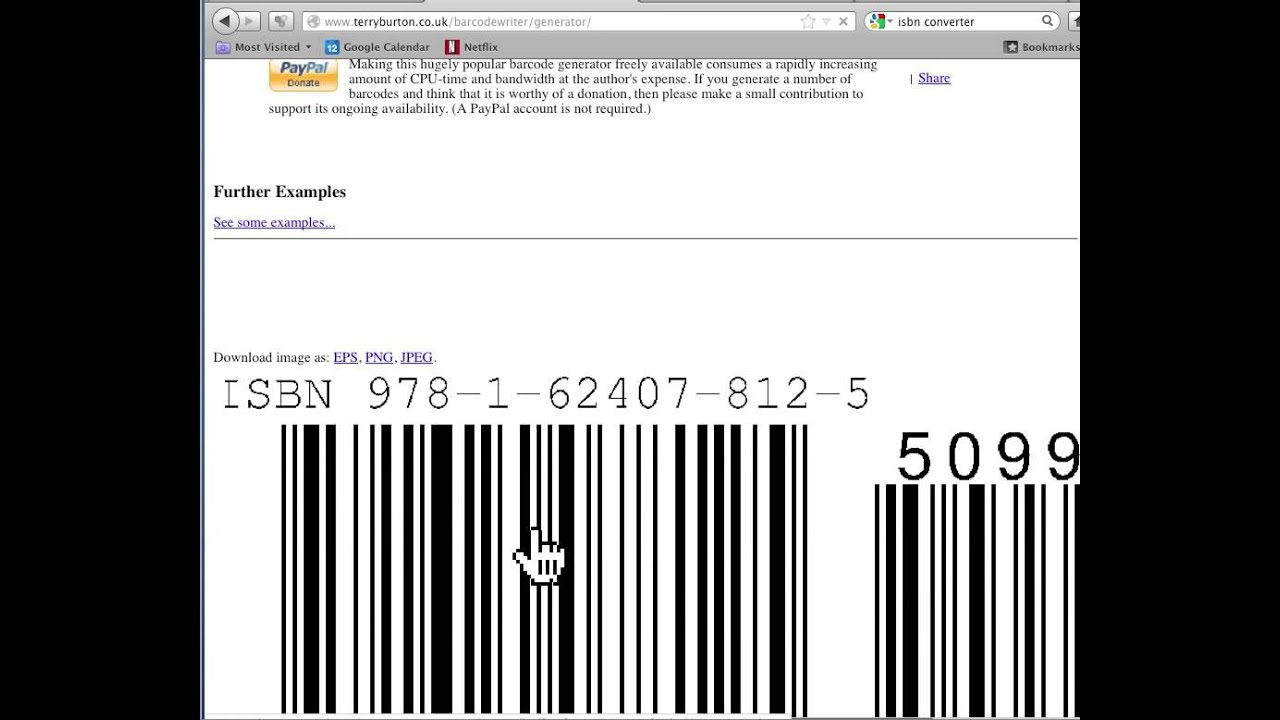 How To Make A Free Custom ISBN Barcode With Price Embedded ...