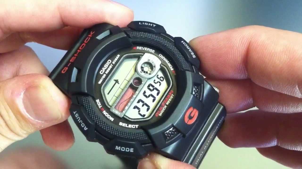 Black Casio G Shock Gulfman Tide Watch
