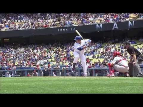 Adrian Gonzalez Swing Mechanics Home Run Baseball Hitting Mechanics SlowMo LA Dodgers MLB Clip
