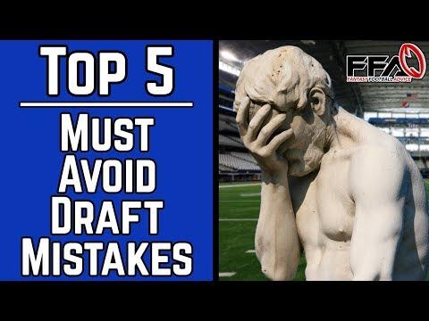 Must Avoid Draft Day Mistakes - 2019 Fantasy Football Advice