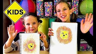 Sign Post Art with Sign Post Kids! How to Draw a Lion!